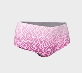Ombre pink and white swirls doodles Mini Shorts preview