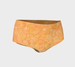 Yellow and orange swirls doodles Mini Shorts preview