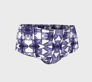 Denim Mosaic Mini Shorts preview