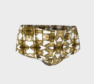 Coffee Mosaic Mini Shorts preview