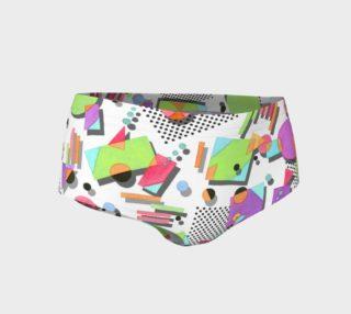 Rad Nineties Geometric Mini Shorts preview