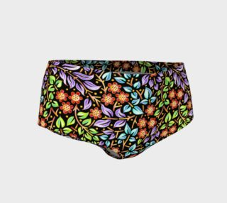Filigree Floral Mini Shorts (smaller print) preview