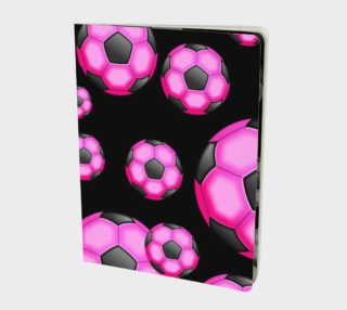 Pink and Black Soccer / Football Large Notebook preview