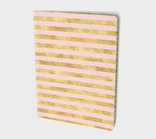 Blush Pink Gold Stripes preview