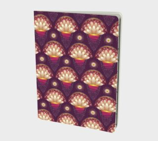 Purple and Beige Scallops Notebook preview