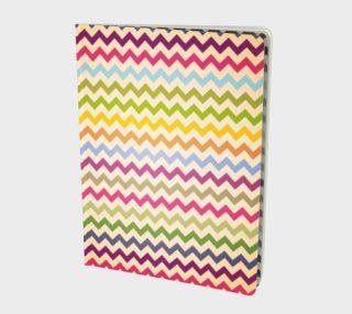 Multicolour chevron - notebook preview