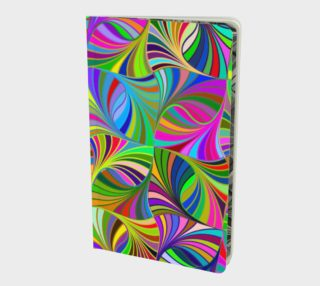 Circular Colorful Geometric Abstract Small Notebook preview