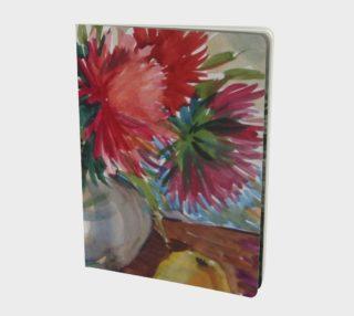 Aperçu de Watercolor Asters. Flowers. Bouquet. Still-Life