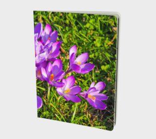 Purple Spring Crocus Notebook preview