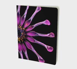 Aperçu de Crazy Purple Flower Large Notebook 160812