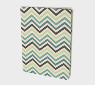 Teal chevron - notebook preview