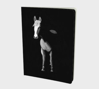 Black and white horse painting notebook preview