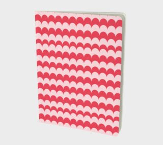 Pink Scallop Print Notebook preview