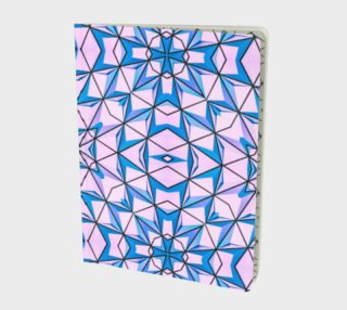 Pink & Blue Mosaic - notebook preview