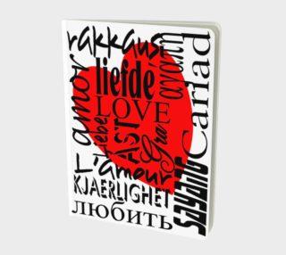 Aperçu de Love in Multiple Languages Large Notebook 160420