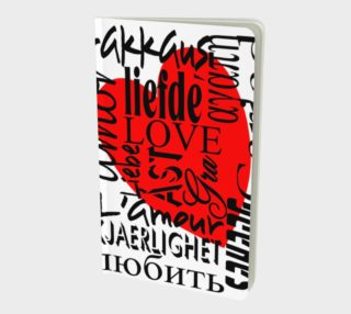 Aperçu de Love in Multiple Languages Small Notebook 160420
