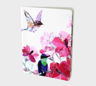 beautiful artistic hummingbirds notebook preview