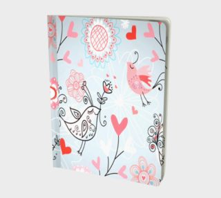 cute love birds Notebook preview