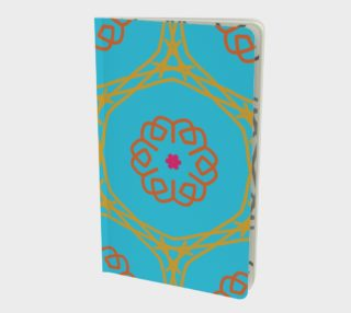 Bright Gold - Orange Geometric Doodle Notebook  preview