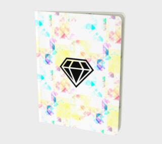 Bright Like A Diamond - Colorful, Geometric Pattern Journal - Notebook preview