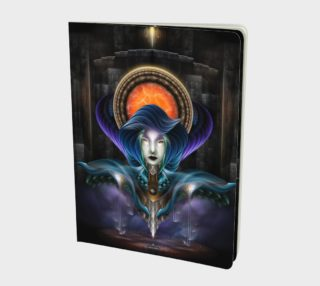 Trilia - Goddess Of The Orange Moon Notebook preview