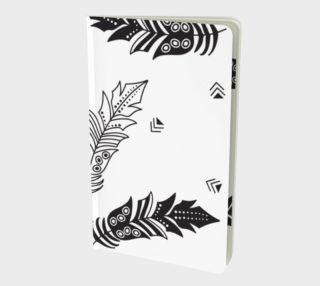 Black & White Feather Notebook preview