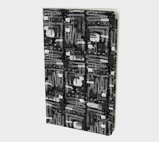 Black and White Linear Ethnic Print Pattern Notebooks preview
