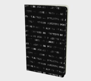 Always Be Positive Motivational Phrase Pattern Notebook preview