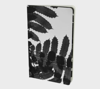 Black and White Leaf Notebook preview