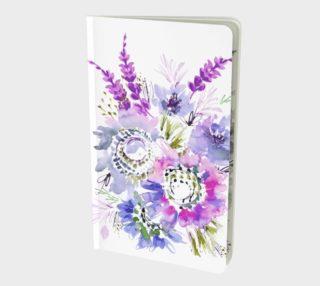 Aperçu de Purple Meadow Watercolor Flowers