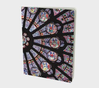 Rose South Window, Notre Dame Paris Large Notebook preview