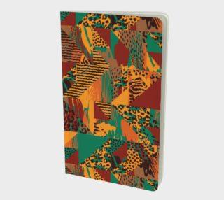 Abstract Safari Print Small Notebook preview