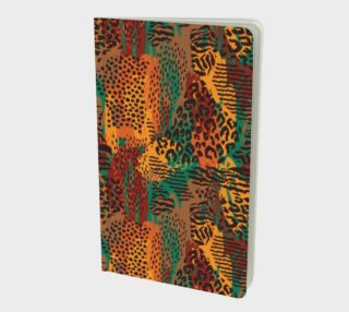 Safari Animal Print Mashup Small Notebook preview