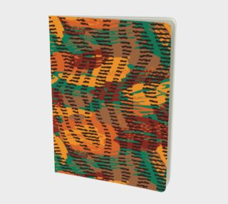 Abstract Animal Stripes Large Notebook preview