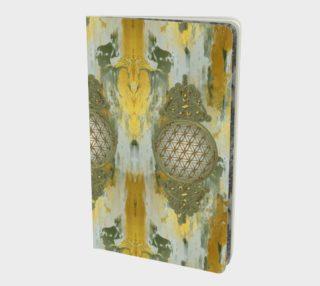 Aperçu de Sacred Geometry Flower Of Life - Vintage Gold Painting Vertical
