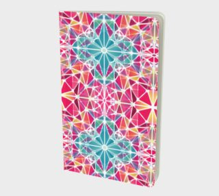Pink and Blue Kaleidoscope Notebook - Small preview