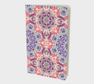 Purple and Pink Kaleidoscope Notebook - Small preview