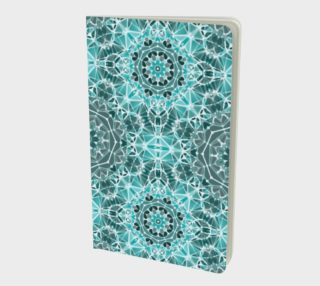 Turquoise & Gray Kaleidoscope Notebook - Small preview