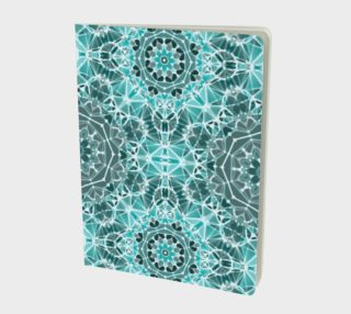 Turquoise & Gray Kaleidoscope Notebook - Large preview