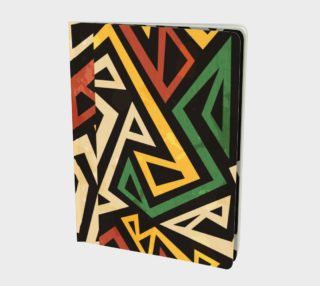 African Geometric Large Notebook (Print by Gudinny) preview