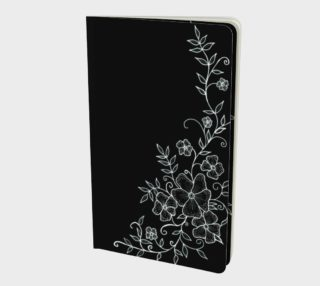 Black and White Floral Ornaments Notebook preview
