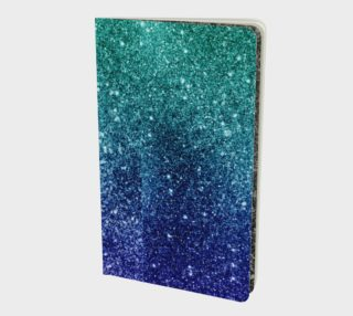Blue Ombre Glitter Notebook preview