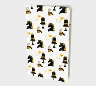 Black & Gold Unicorn Celebration Notebook preview