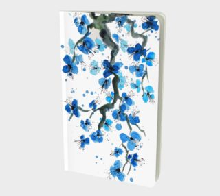 Blue Japanese Blossoms Notebook preview