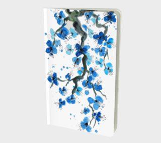 Blue Japanese Blossoms Notebook aperçu