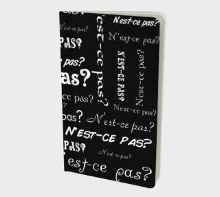 White N'est-ce Pas Small Notebook preview