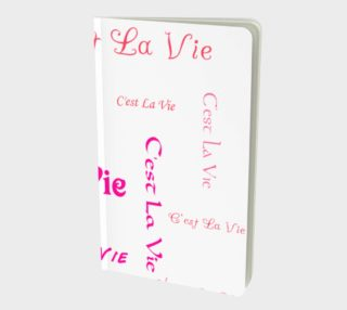 Fuchsia C'est la Vie Small Notebook preview