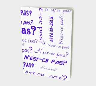 Purple N'est-ce Pas Large Notebook preview