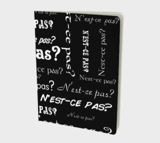 White N'est-ce Pas Large Notebook preview