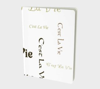 Aperçu de C'est la Vie Large Notebook